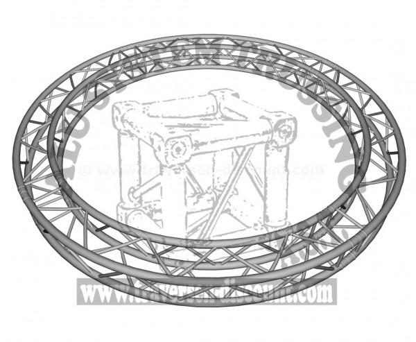 Traversen Kreis aus T290-4 mit einem Durchmesser von 300cm, Alu System Trussing AST
