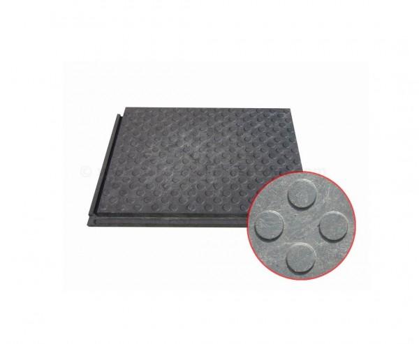 """Bodenabdeckung flexibel """"strong"""" mit Münzprofil, Set mit 60 Stück Abmessung je 80x60x4,3cm schwarz"""
