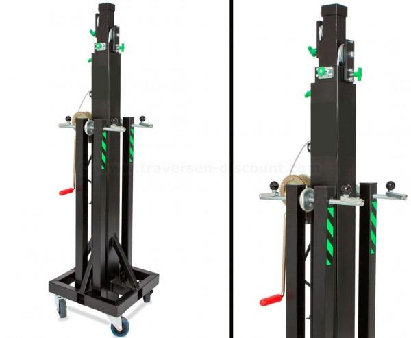 Kurbel Lift für Traversen Messestände max. Höhe 535cm und max. Gewicht 250kg, HTL 250