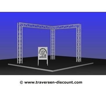 Mobile Messestände in L Form, für Messe München mieten, mit 4x3x3m