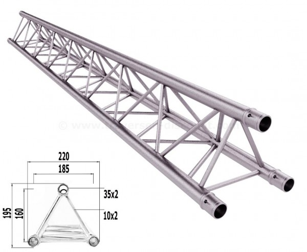 Traversen Decotruss T220-3 mit 200cm, 3 Punkt Alu System Trussing