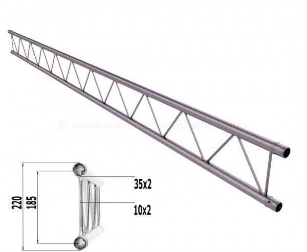 Truss T220-2 mit 300cm, 2 Punkt Alu System Deco Trussing AST