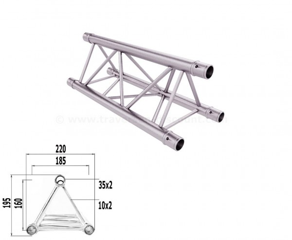 Traversen Decotruss T220-3 mit 50cm, 3 Punkt Alu System Trussing