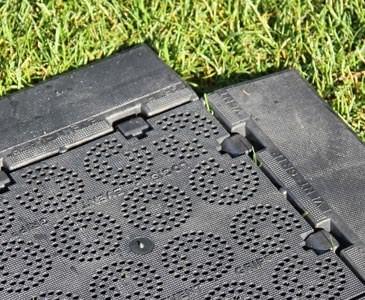 """Bodenrampe, Keil ohne Clip für Bodenschutz """"easy"""", mit 24,8x9,2x2,2cm schwarz"""