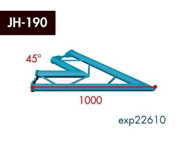 Zweipunkt Traversen X2K-30, 2-Weg Ecke, Winkel 45°, horizontal