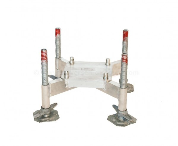 Bodenplatte Standard aus Alu als Basement mit 4 Spindelfüsse für T290-4, Alu System Trussing AST