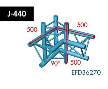 Dreipunkt Traverse X3K-30, 4-Weg Ecke, Winkel 90°, Abgang oben/unten, rechts