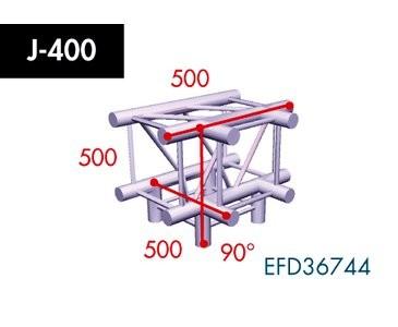 Vierpunkt Traverse X4K-30, 4-Weg T-Stück, Winkel 90°