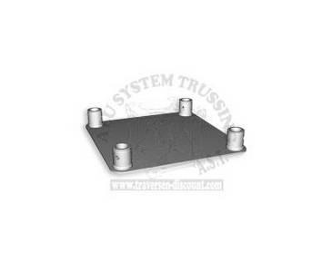 Traverse 4 Punkt T400-4 Bodenplatte female 42x42cm, Alu System Trussing
