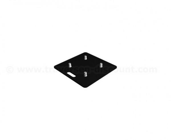 Bodenplatte Stahl schwarz beschichtet mit 50x50x0,8cm, für Traversen T290 und T220