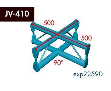 Zweipunkt Traversen X2K-30, 4-Weg Kreuz, Winkel 90°, vertikal