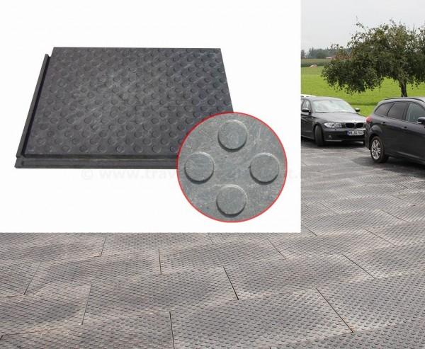 """Bodenbelag für Bau Straße """"strong"""" mit Münzprofil, mit 120x80x4,3cm schwarz"""