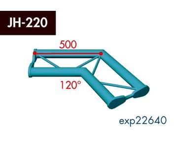 Zweipunkt Traversen X2K-30, 2-Weg Ecke, Winkel 120°, horizontal