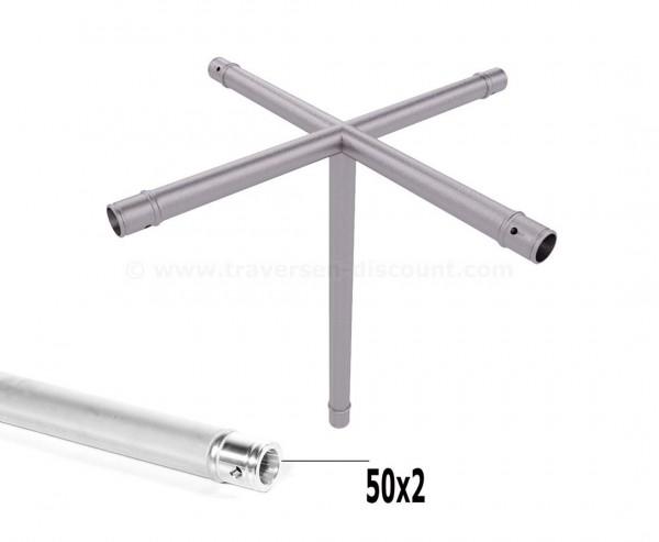 Mini Trussing T290-1 5-Wege Eck Kreuz mit Abgang C52, Alu System Trussing