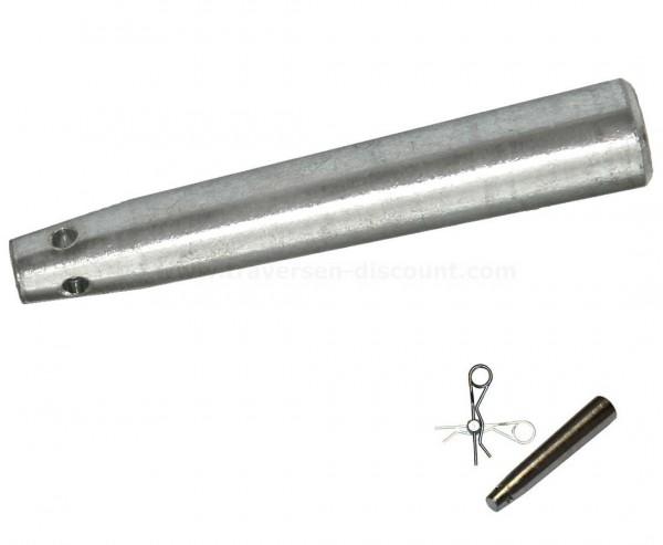Splint konischer Stift mit 2 Lochbohrungen, für alle T290 und T400 Traversen