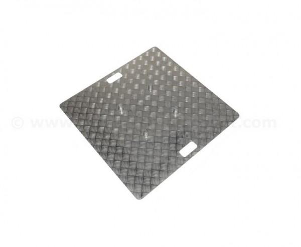 Truss Base Plate für T290-4 aus Riffelblech Alu natur mit 80x80cm, Materialstärke 0,5 bis 0,65cm