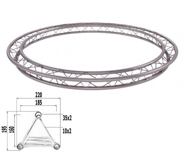 Decotruss Kreis aus T220-3 Traversen mit einem Durch. von 300cm