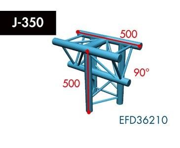 Dreipunkt Traverse X3K-30, 3-Weg T-Stück, Winkel 90°, Spitze unten, vertikal