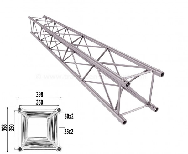 Traverse 4 Punkt Bühnen Truss T400-4 350cm, Alu System Trussing AST