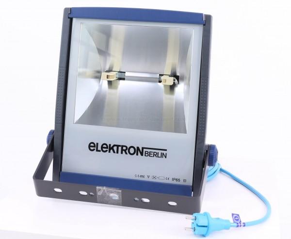 Halogen Scheinwerfer 150W hocheffizient tief breitstrahlend, IP65 mit Leuchtmittel