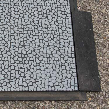 """Auffahrrampe für Bodenbelag Aussen """"Light"""" mit 40x10x2,2cm schwarz"""