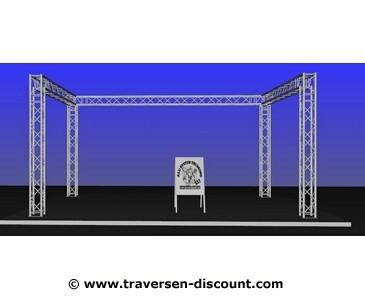 Messebauer für München, Traversen Messestand mieten in U Form, mit 6x4x3m