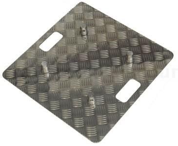 Truss Base Plate für T290 und T220 aus Riffelblech Alu natur mit 50x50cm, Materialstärke 0,5 bis 0,6