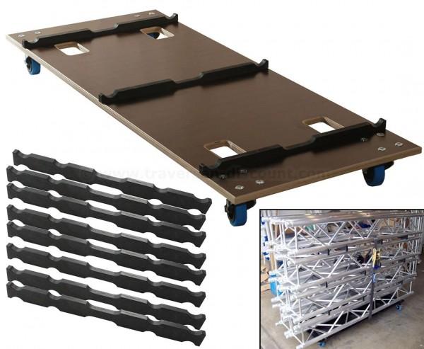 Transportwagen Set für Traversen, Rollwagen mit 150x60cm für T290-3 und 4Punkt, mit Stapelhölzer und
