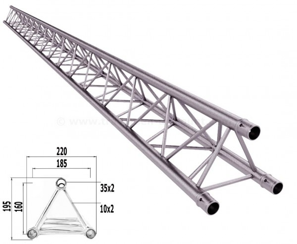 Traversen Decotruss T220-3 mit 400cm, 3 Punkt Alu System Trussing