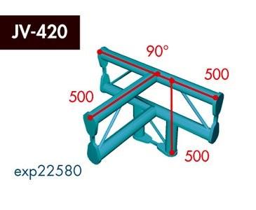 Zweipunkt Traversen X2K-30, 4-Weg T-Stück, Winkel 90°, vertikal