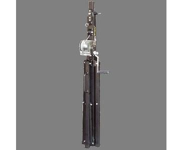 T 101, schwarz, Belastbarkeit 100kg Max. Höhe bis 380cm - BGV-C1