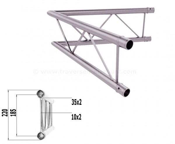 Alu Traversen 2-Punkt T220-2 2-Wege Eck 60° vertikal C20V, Alu System Trussing