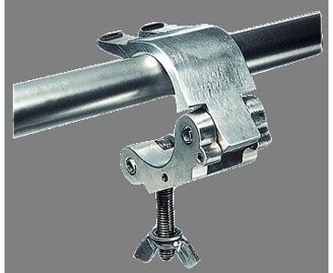 Schwere Schelle mit M12 Senkkopfschraube, Tragkraft: 500kg, TÜV geprüft, silber