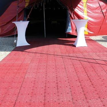 """Bodenschutzmatten """"easy"""" rot, aus PE Material mit 100x100x2,2cm"""