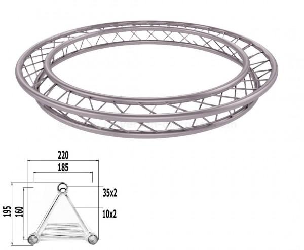 Dekotruss Kreis aus T220-3 Traversen mit einem Durch. von 200cm