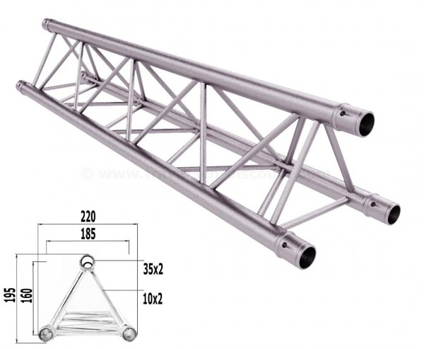 Traversen Decotruss T220-3 mit 100cm, 3 Punkt Alu System Trussing