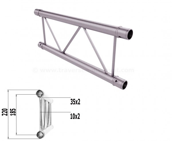 Truss T220-2 mit 50cm, 2 Punkt Alu System Deco Trussing AST