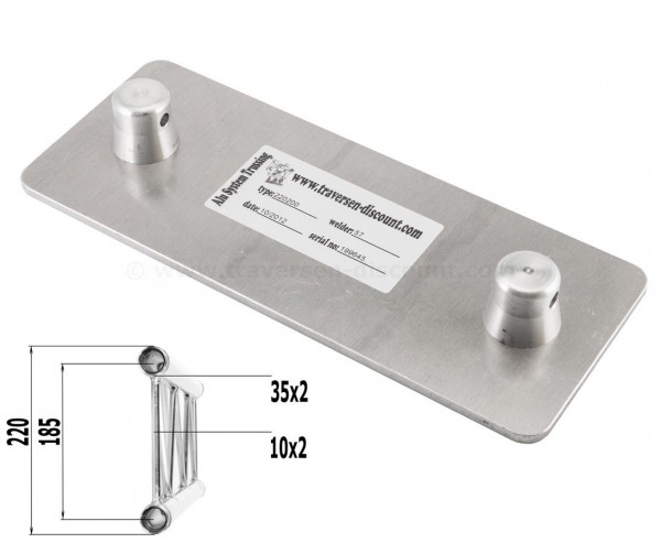 Alu Bodenplatte male für Deocutrss T220-2, Alu System Trussing