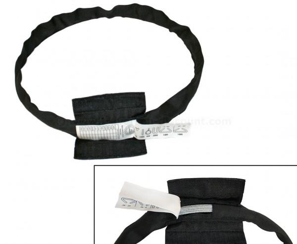 Rundschlinge schwarz mit Stahlseileinlage, Nutzlänge 50cm, Umfang 100cm