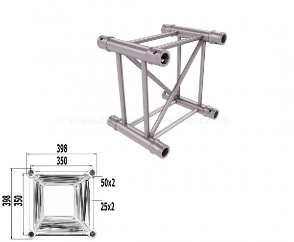 Traverse 4 Punkt Bühnen Truss T400-4 25cm, Alu System Trussing AST