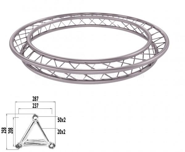 Traversen Kreis aus T290-3 mit einem Durchmesser von 200cm