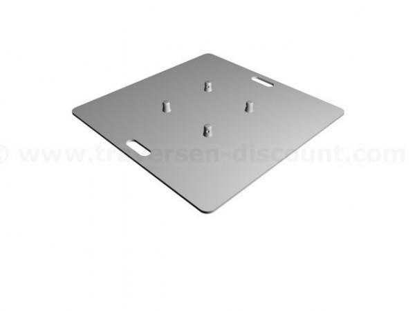 Bodenplatte für Traversen T290 und T220, Platte aus Alu mit 80x80x0,8cm