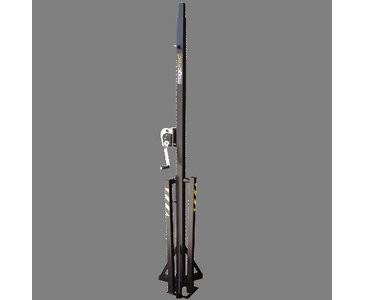 T 100, schwarz, Belastbarkeit 100kg Max. Höhe 380cm - BGV-C1