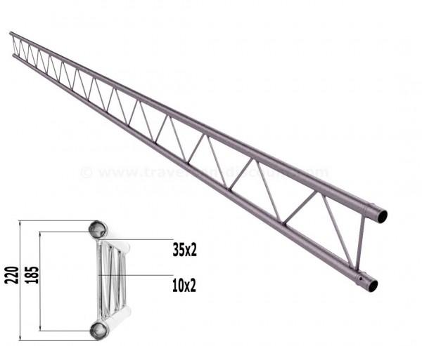Truss T220-2 mit 400cm, 2 Punkt Alu System Deco Trussing AST