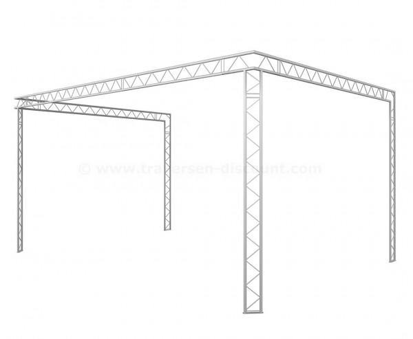 Messebau mit Deco Truss T220-2 in U Form mit 4x6x3m