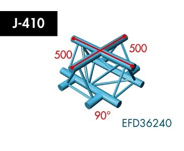 Dreipunkt Traverse X3K-30, 4-Weg Kreuz, Winkel 90°