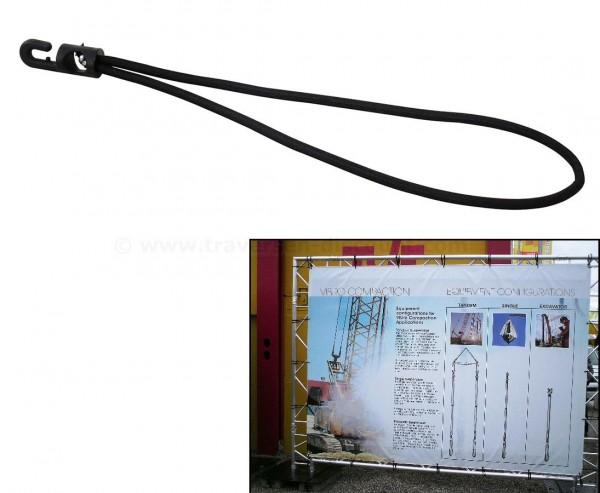 Gummispanner schwarz für Werbe Planen, Länge 20cm