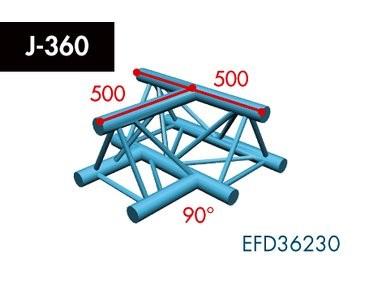 Dreipunkt Traverse X3K-30, 3-Weg T-Stück, Winkel 90°, horizontal