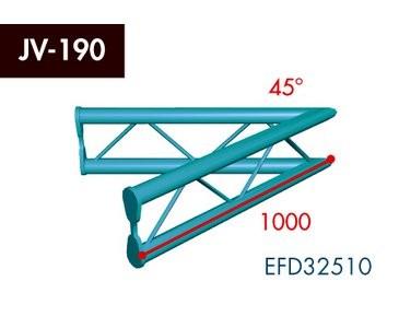 Zweipunkt Traversen X2K-30, 2-Weg Ecke, Winkel 45°, vertikal