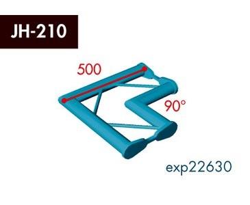 Zweipunkt Traversen X2K-30, 2-Weg Ecke, Winkel 90°, horizontal